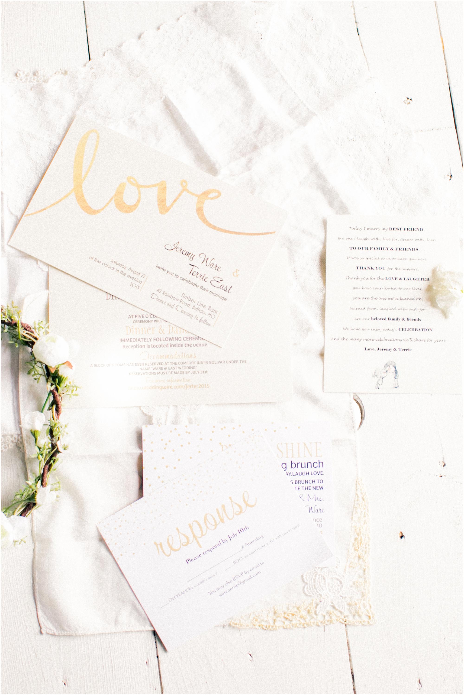 Wedding Invitation from Timberline Barn Wedding by Jordan Brittley Photography