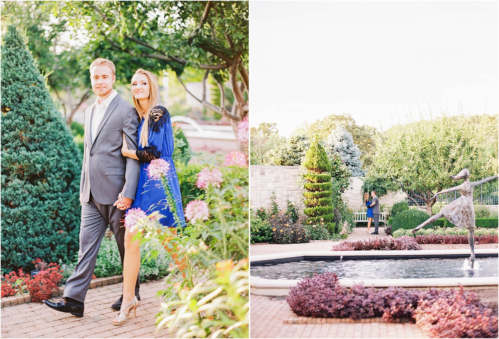 Kansas City Garden Engagement - Jordan Brittley Photography (www.jordanbrittley.com)