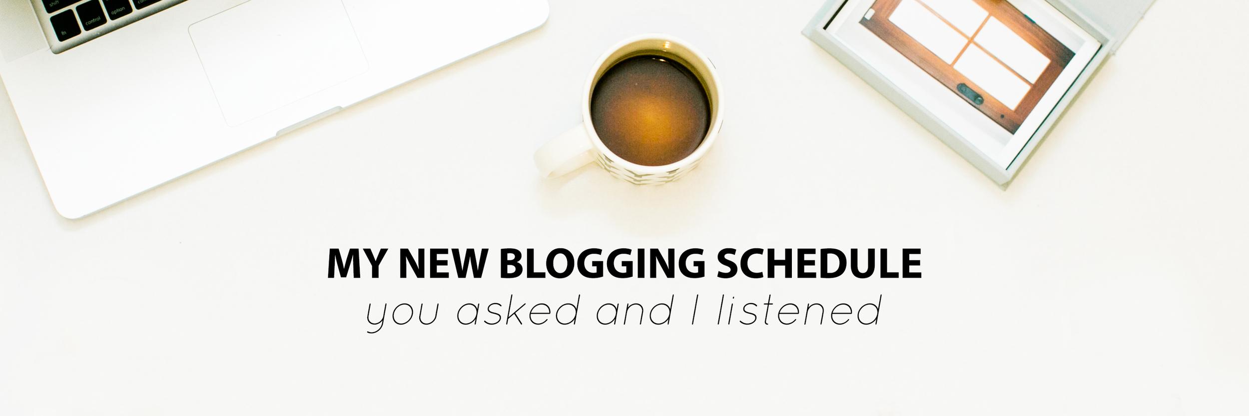 My New Blogging Schedule - The Jordan Brittley Blog