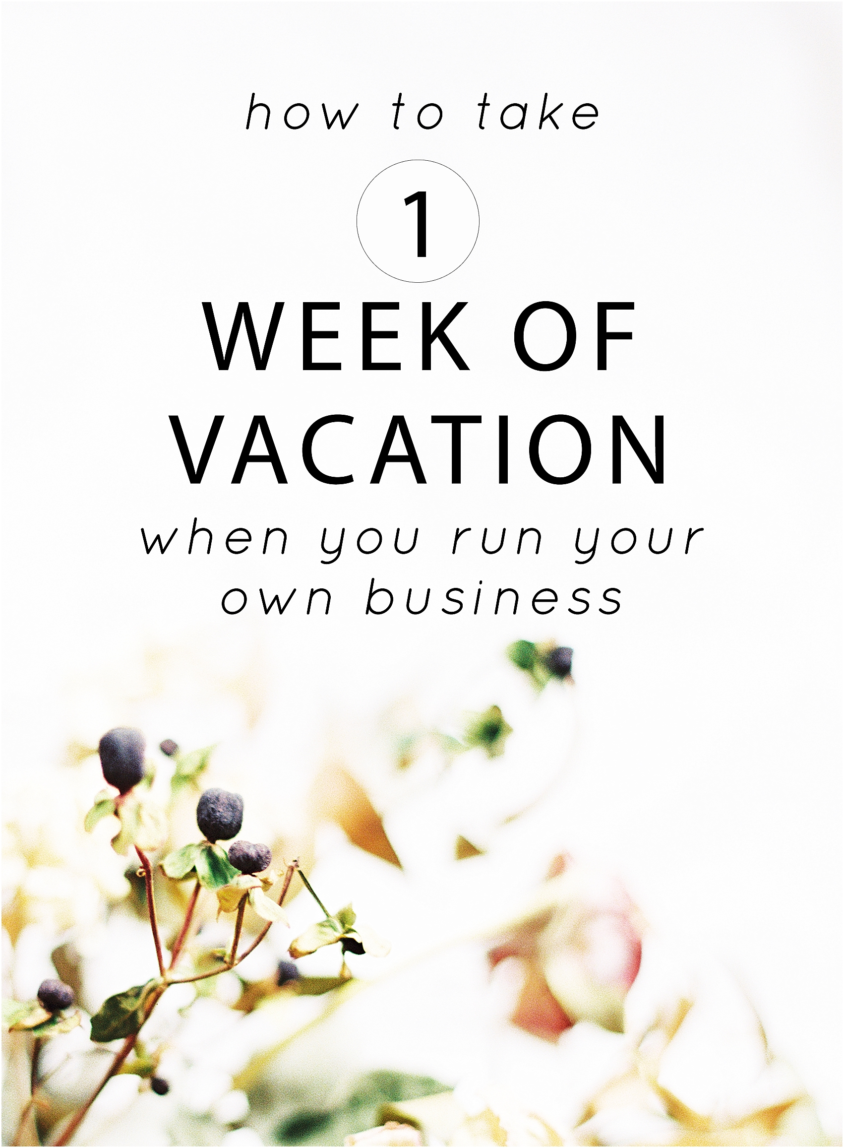 How to take one week of vacation when you run your own business - The Jordan Brittley Blog (www.jordanbrittleyblog.com)
