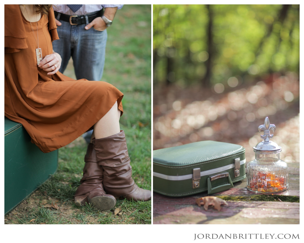 st charles engagement session, rustic backyard engagement session