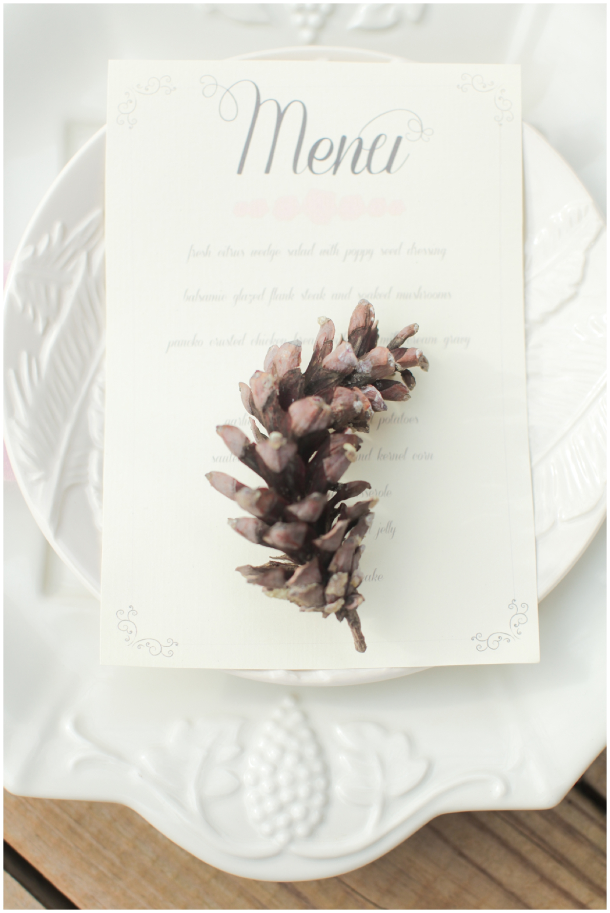 DIY Menu - Wedding Menu by Jordan Brittley