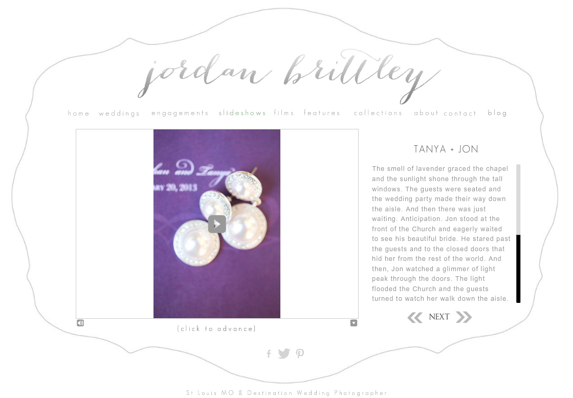 Website - tanya + jon