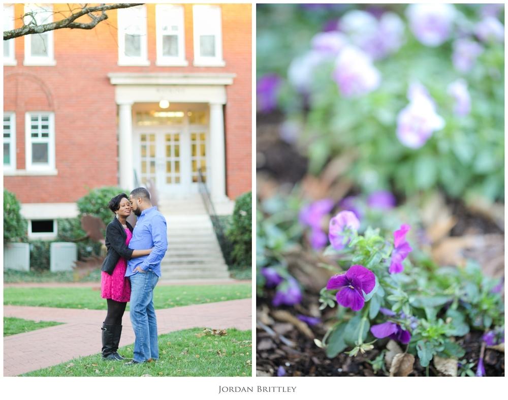 Charlotte NC Queens University Engagement - Jon + Tanya by Jordan Brittley