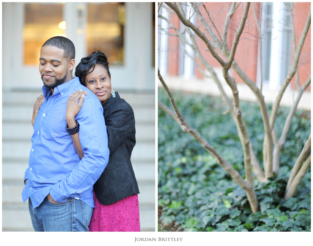 Charlotte NC Queens University Engagement - Jon + Tanya by Jordan Brittley