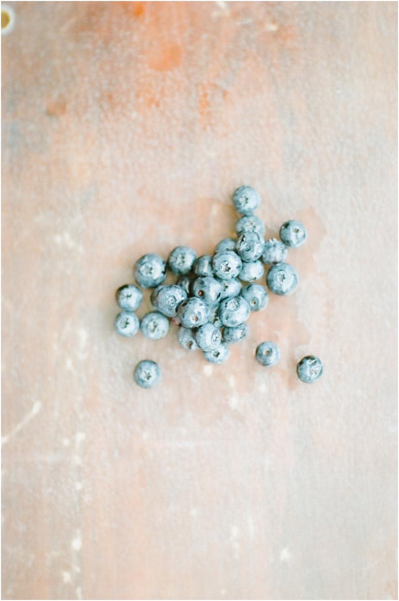 blueberries - photography by Jordan Brittley - glass cutting board