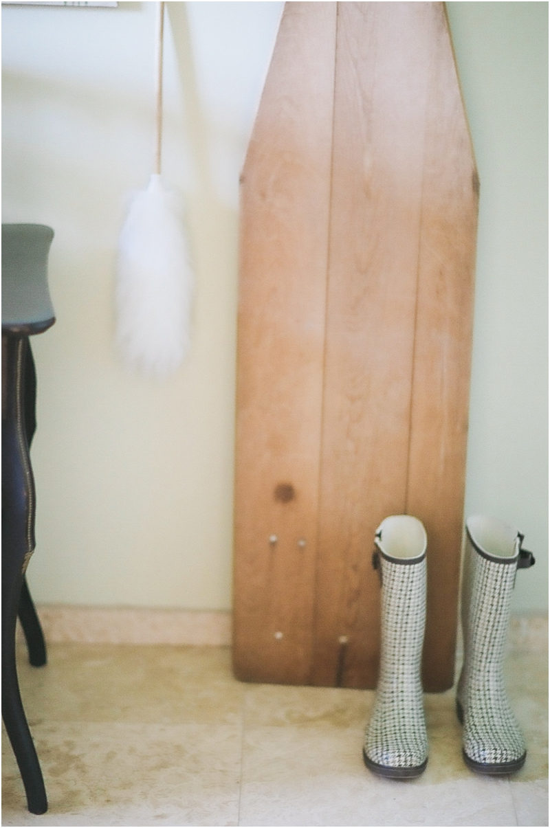 wooden ironing board - laundry room decor