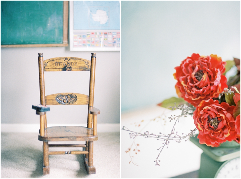 handmade rocking chair and flowers by jordan brittley photography