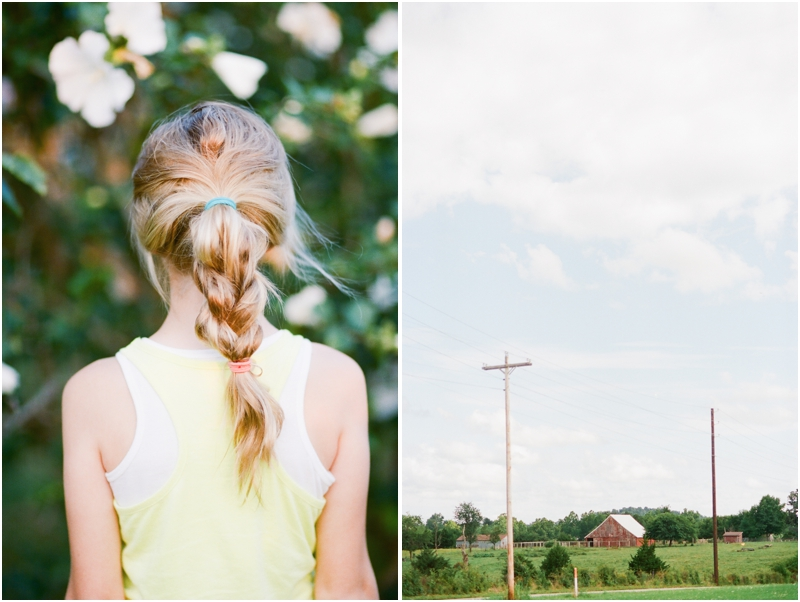 braided hair and farm - photography by jordan brittley