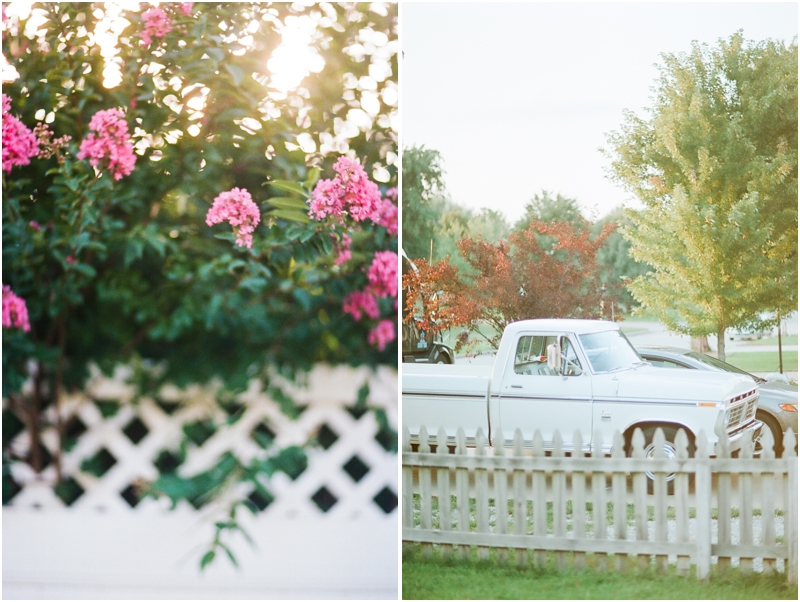 flowers on a fence and a vintage truck bolivar mo -photography by jordanbrittley.com