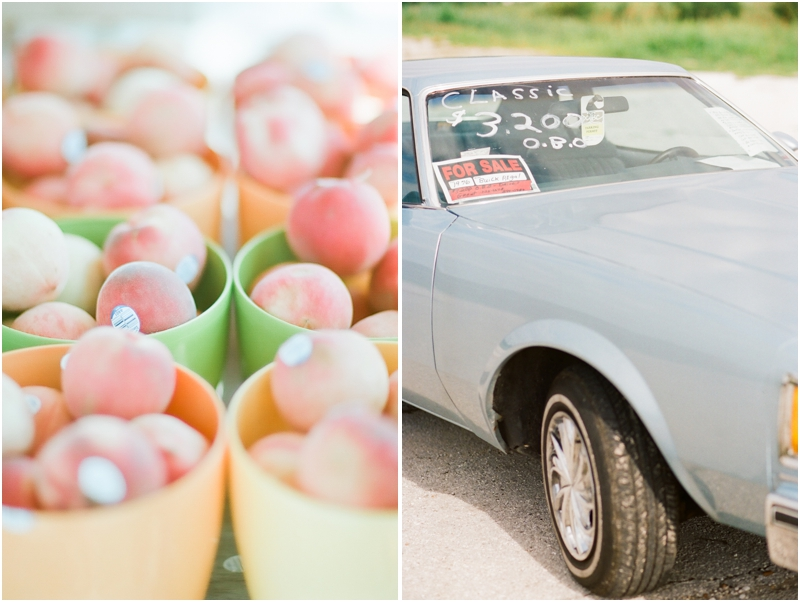 fresh peaches and vintage car bolivar mo - photography by jordanbrittley.com