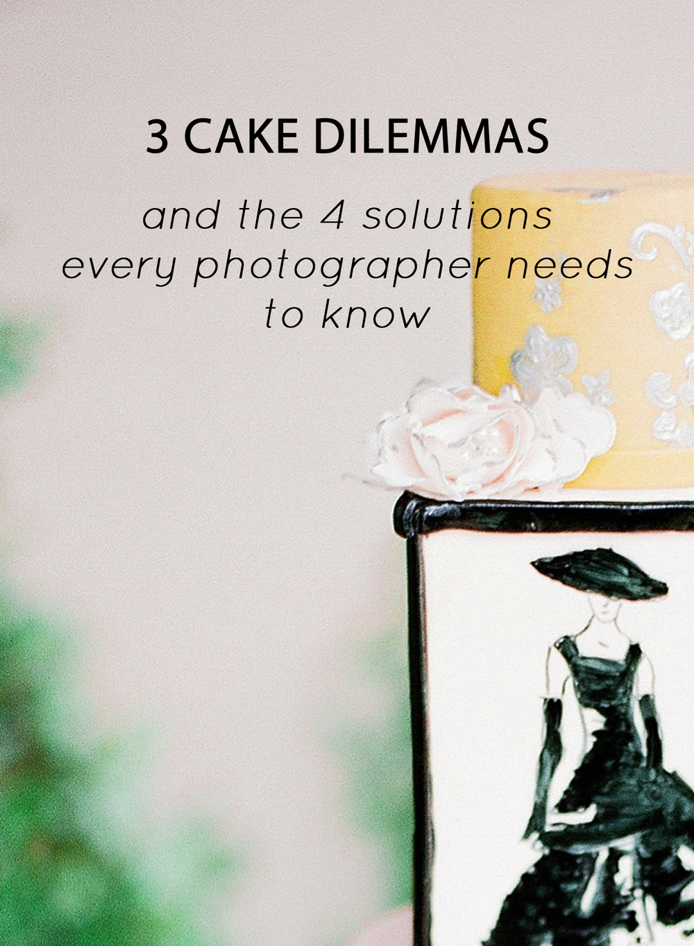 3 Cake Dilemmas and 4 Photo Tips for photographers - St Louis MO Wedding Photographer, Jordan Brittley (jordanbrittley.com)