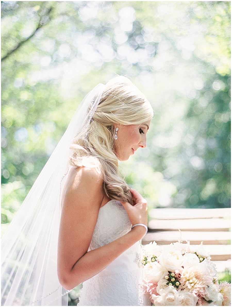light and airy wedding photo - fine art film photography