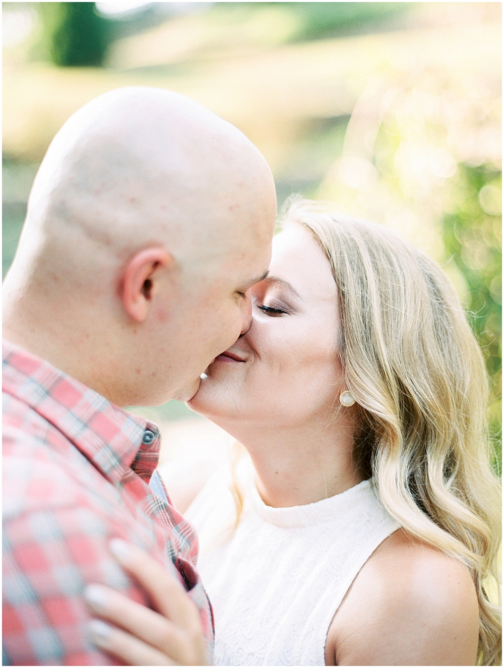 Romantic Garden Engagement Session in St Louis, MO