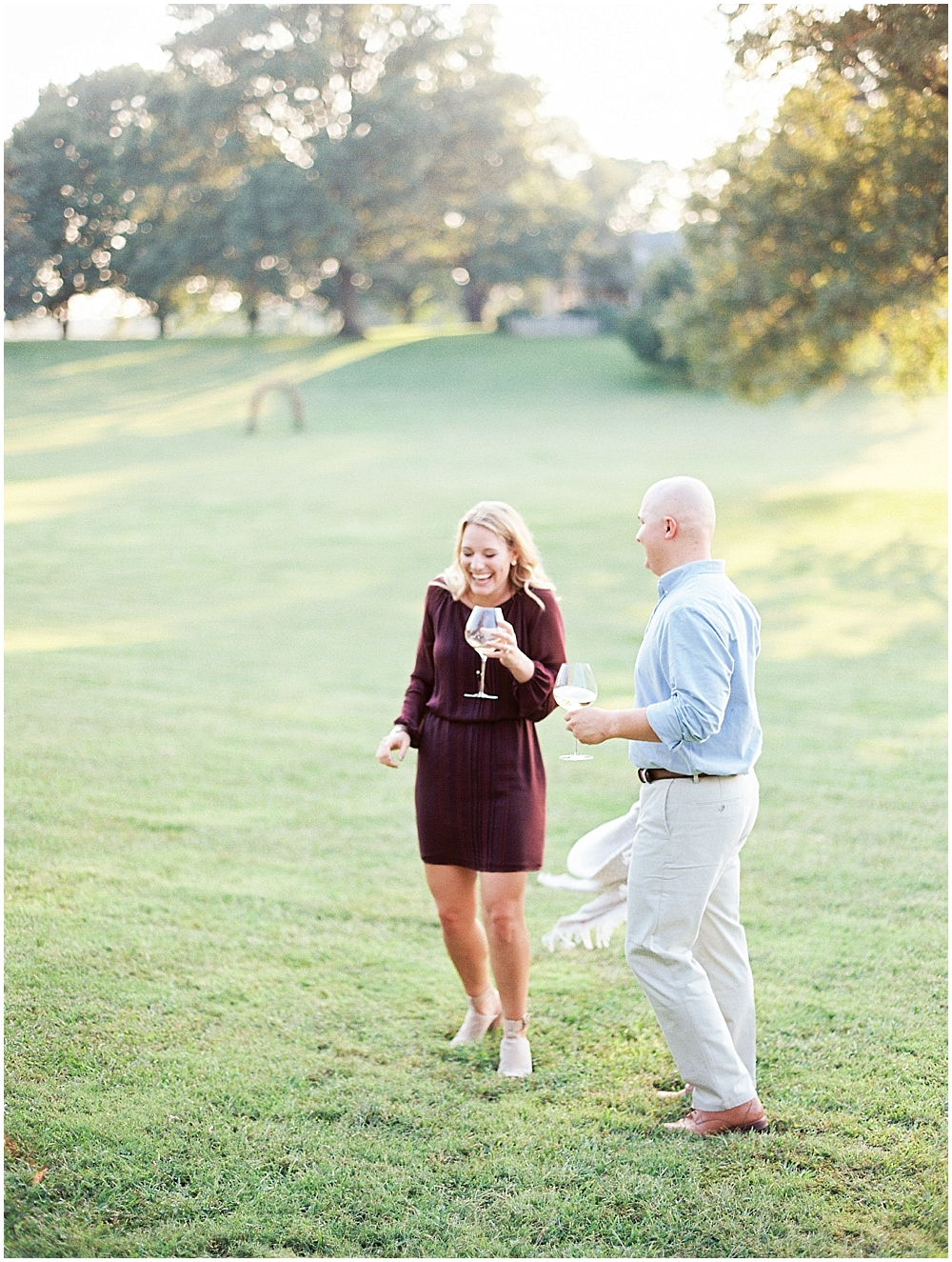 Joyful couple in St Louis - Engagement Session