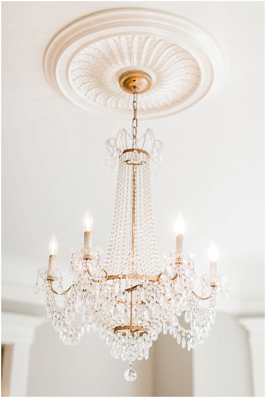 Chandelier at Missouri Wedding Venue in Springfield, MO - Haseltine Estate
