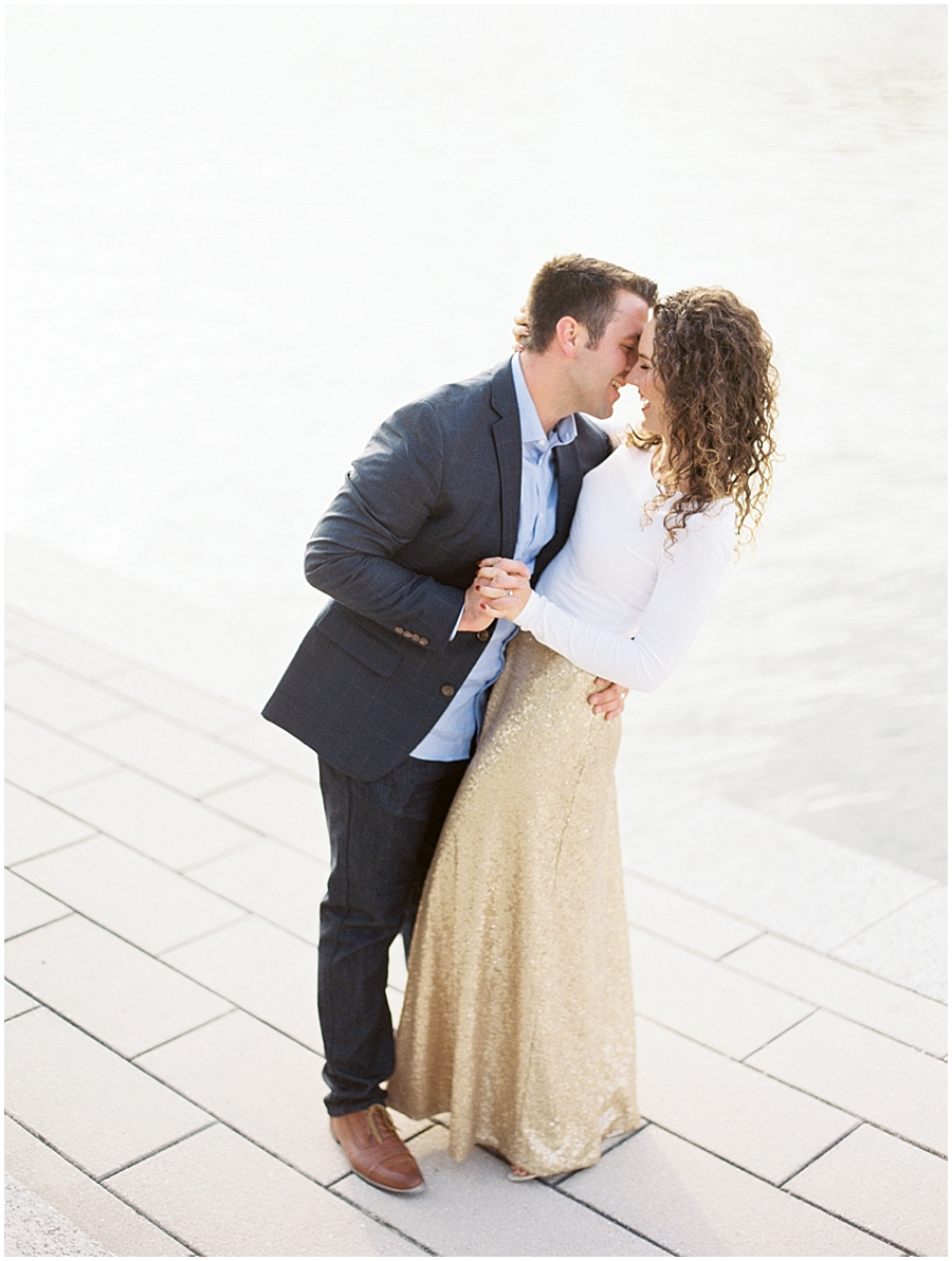 Why not dance at sunset during your anniversary session? LOVE!