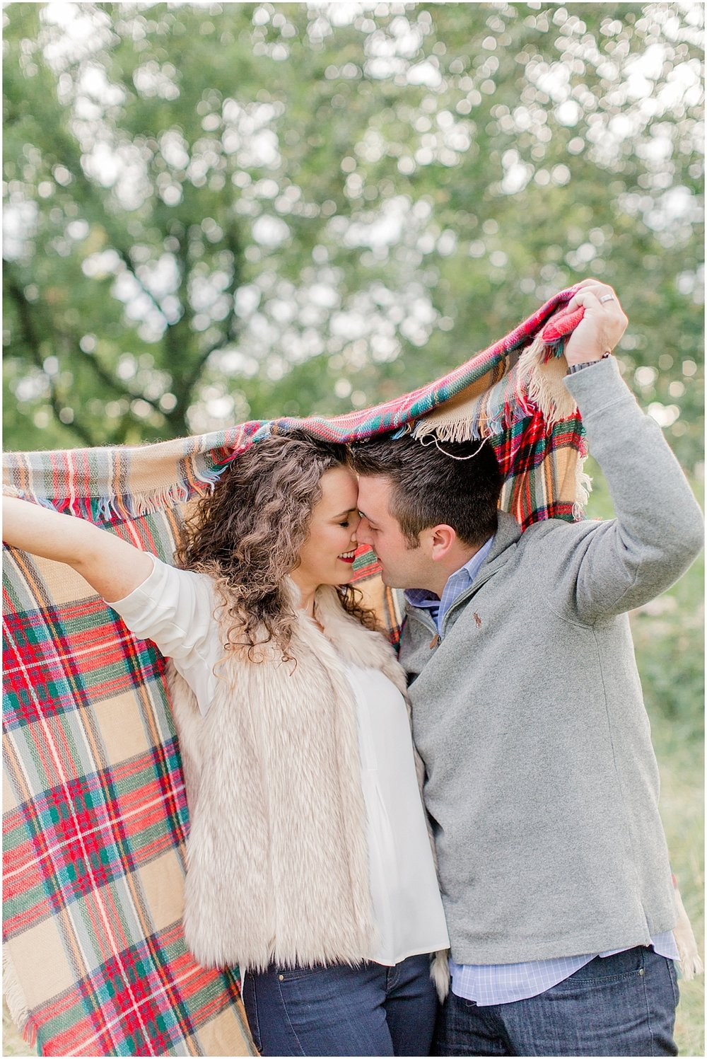 Fall Anniversary Ideas - Blanket Scarf and a Romantic Night at the Park