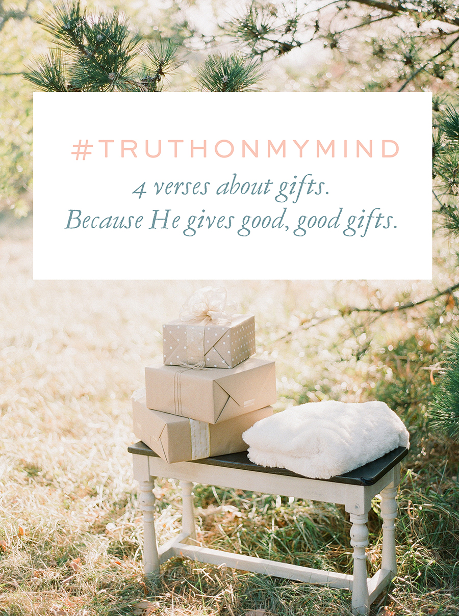 4 verses on good gifts for creatives