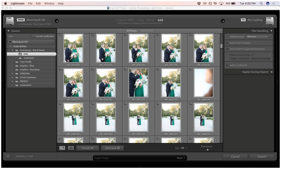 Get started with Lightroom Editing - How to import photos into lightroom