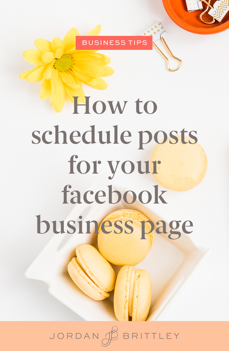 How to schedule facebook posts for your business