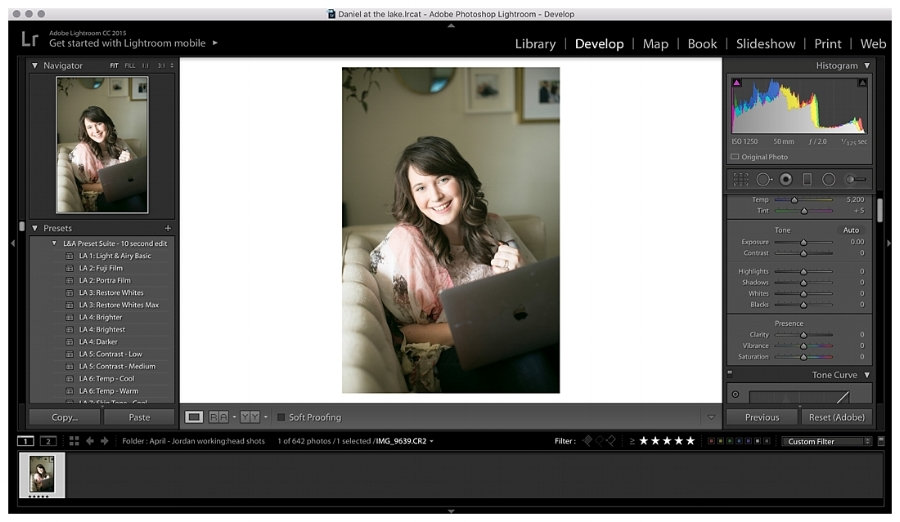 How to save your light and airy photos in Lightroom