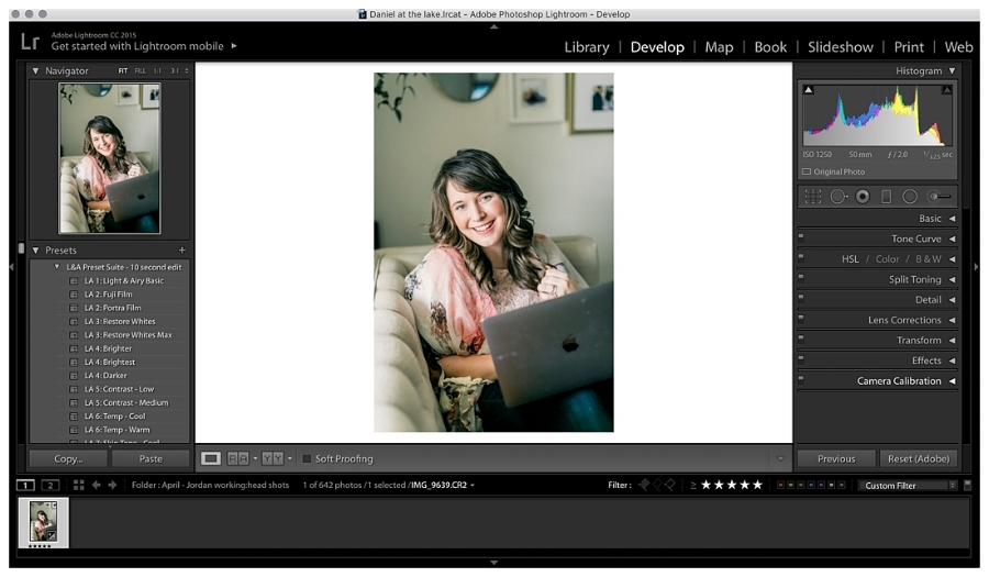 Save your light and airy photo with this Lightroom filter