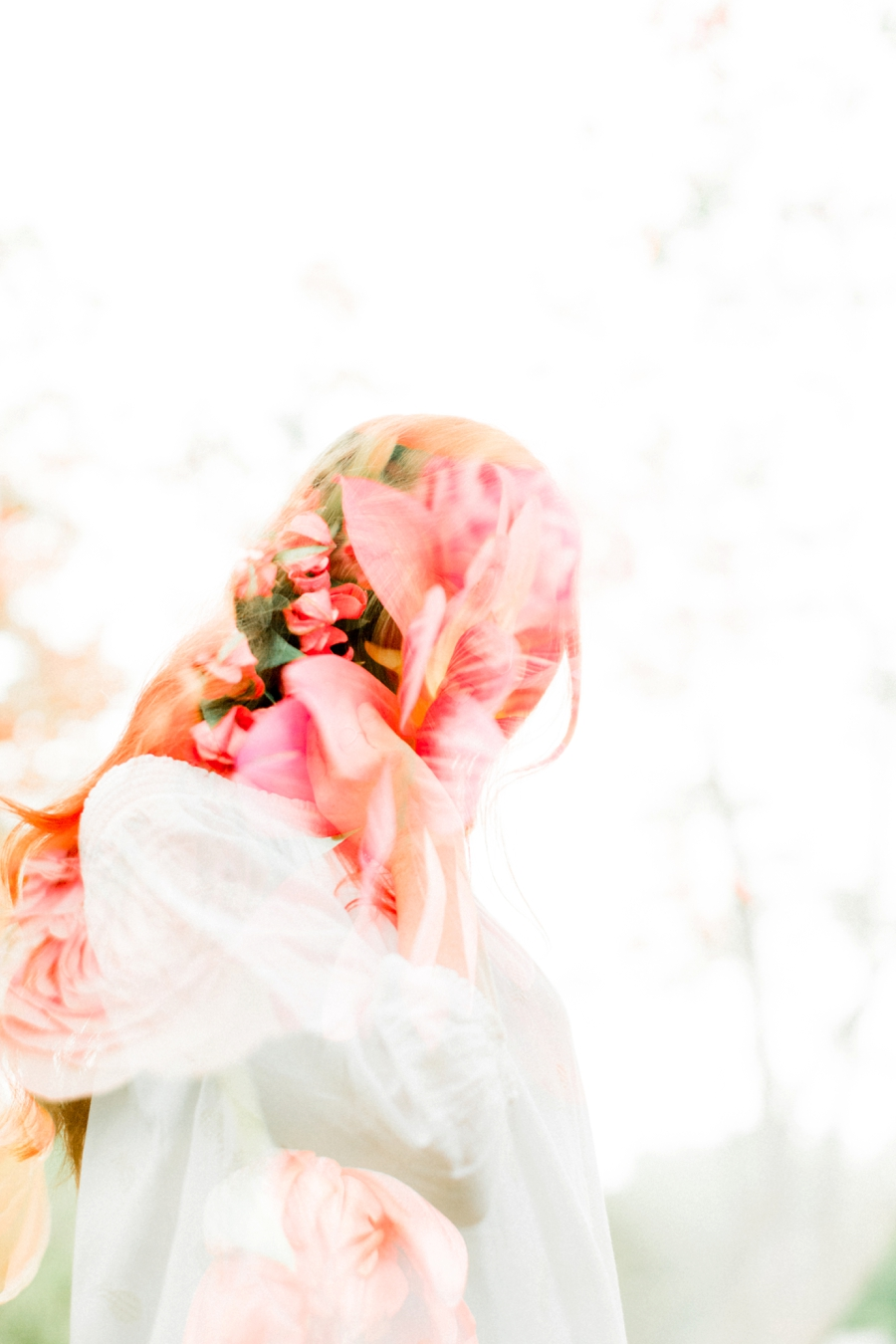 light and airy double exposure
