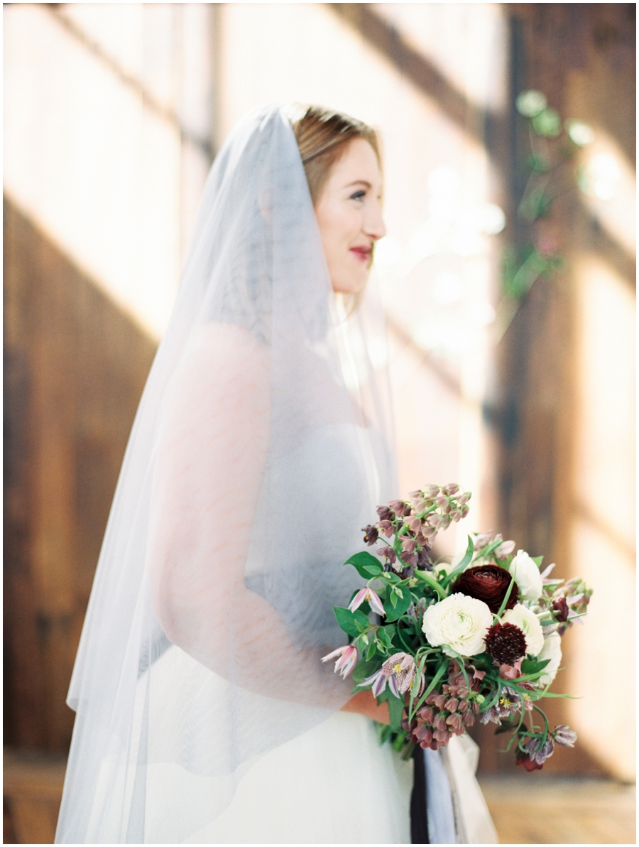 bride at a styled wedding shoot