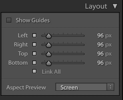 Lightroom Slideshow Module — Layout panel