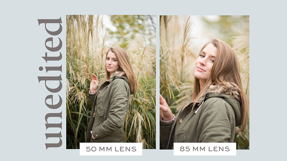 85mm vs 50mm lens with unedited photos