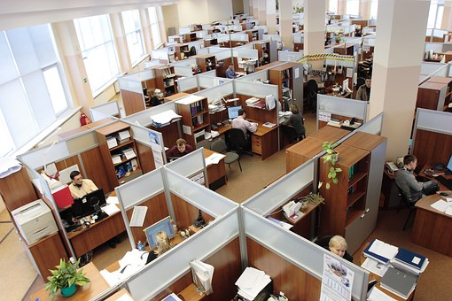 office cubicles at large company