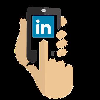 LinkedIn use on mobile phone