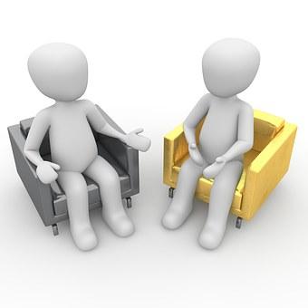 interview between 2 figures