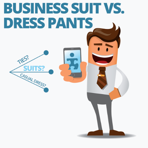 Business Suit or Dress Pants for men interviewing