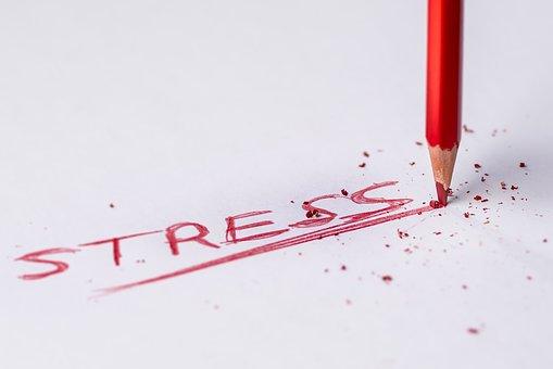 stress - written in red