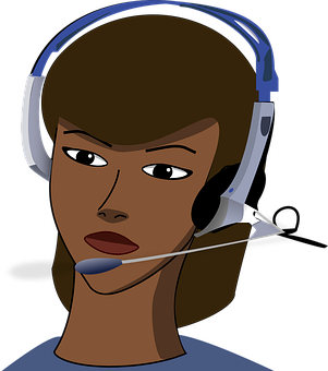 customer service cartoon lady