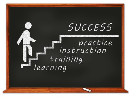 ladder of success - learning, training, instruction, practice