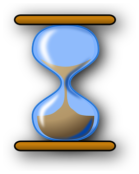 awareness of time - hourglass