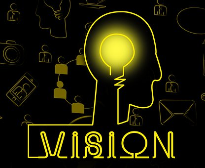 vision - light bulb in head image