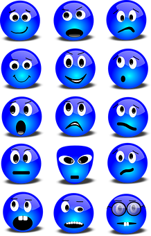 emoticons showing varied emotional responses