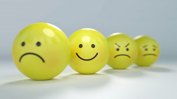 emotions expressed on yellow balls