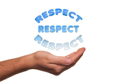respect - held in one's hand