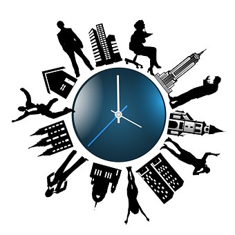 time - clock - busy but prompt