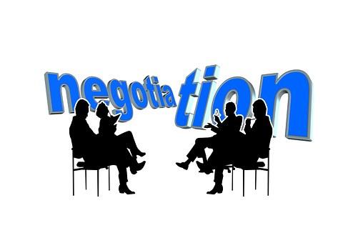 4 people in negotiations