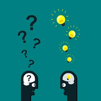 2 figures brainstorming ideas