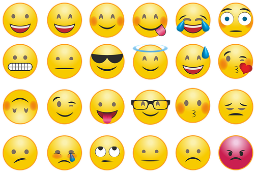 emojis with various moods and facial expressions
