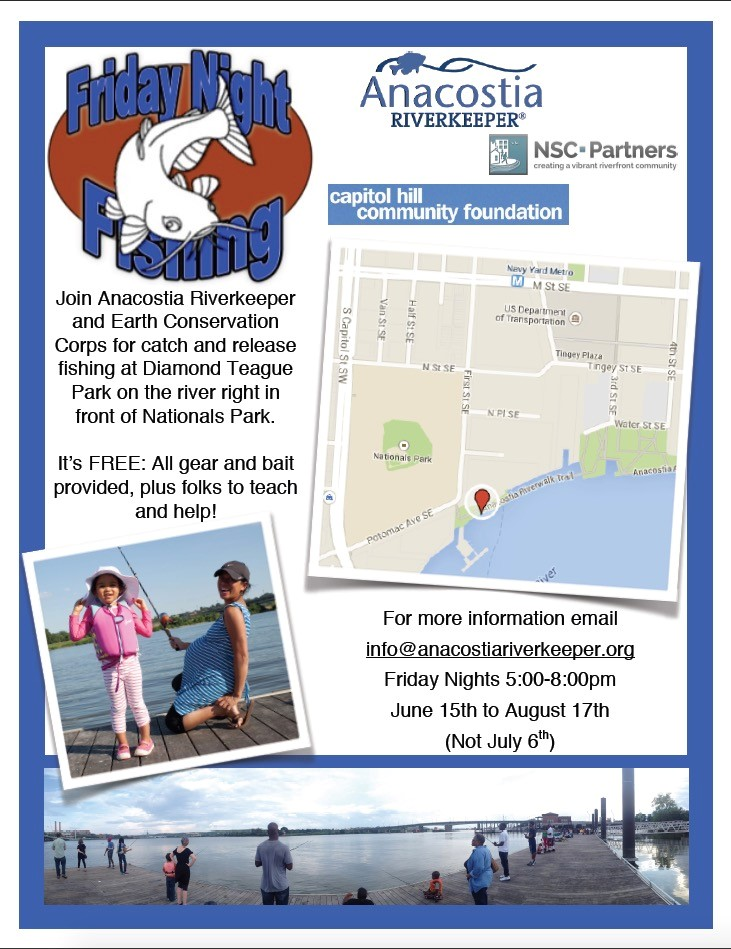 Friday August 1st Free Community >> Free Fishing Event On Friday Nights Starting Today Anacostia