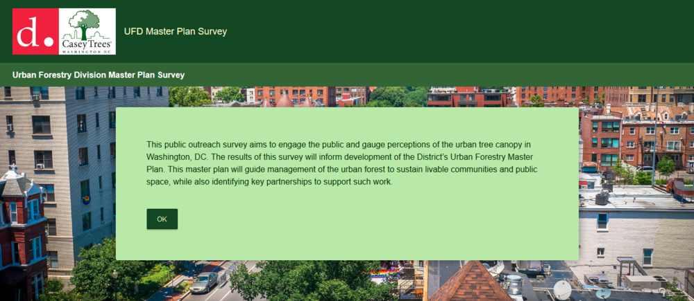 image:  Urban Forestry Division Master Plan Survey