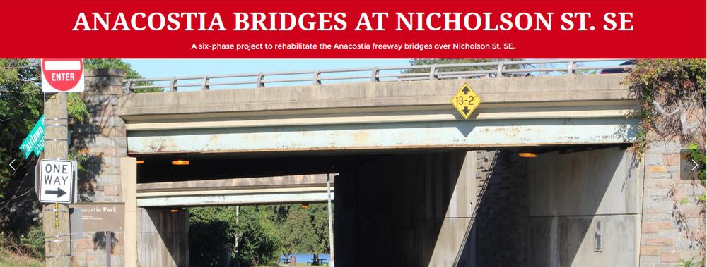 image:  Anacostia bridges at nicholson st. se
